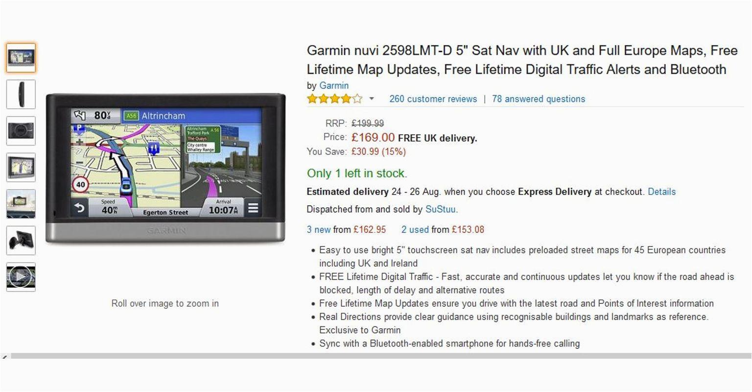 Sat Nav with Usa and Europe Maps Garmin Nuvi Sat Nav Free Lifetime Maps