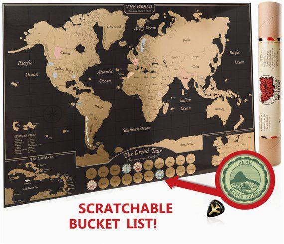 scratch off world map poster travel journal as travel decor