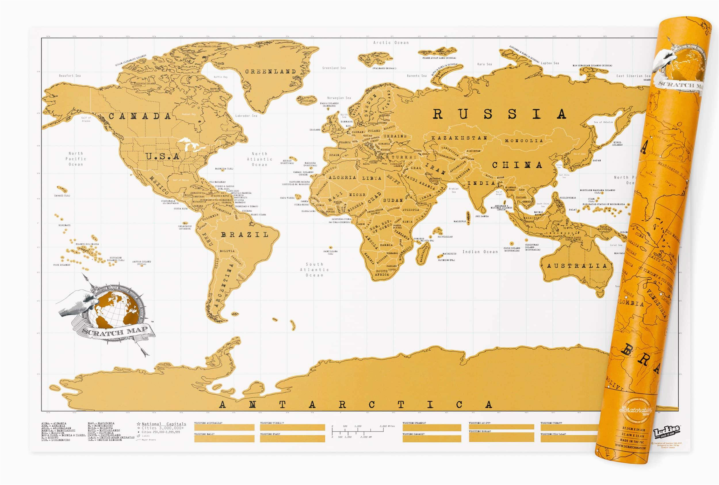 world original scratch maps large or travel editions