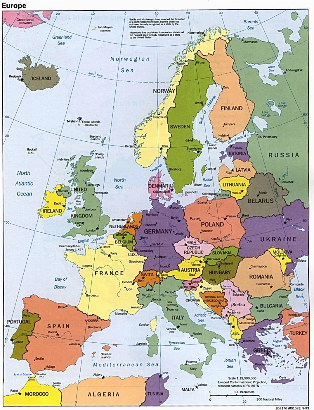 map of europe maps kontinente europe reisen und europa