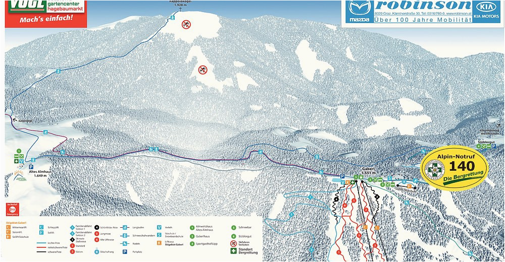 Ski Resorts Map Europe Bergfex Ski Resort Gaberl Skiing Holiday Gaberl Winter
