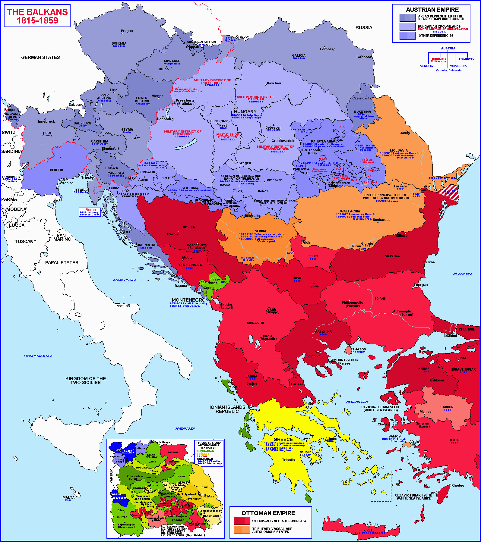 balkans historical map 1815 1859 balkans maps maps