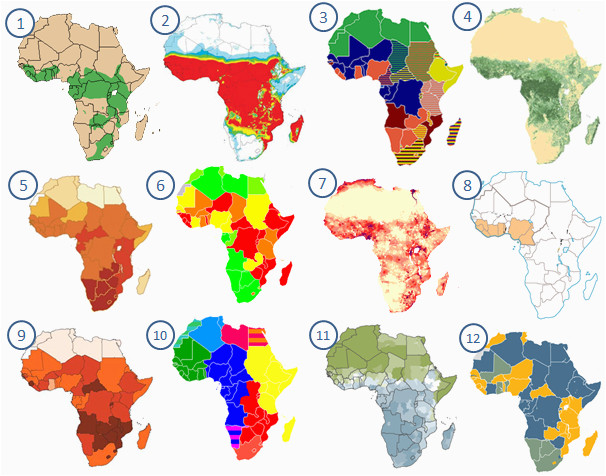 african maps clickable quiz by sufradley