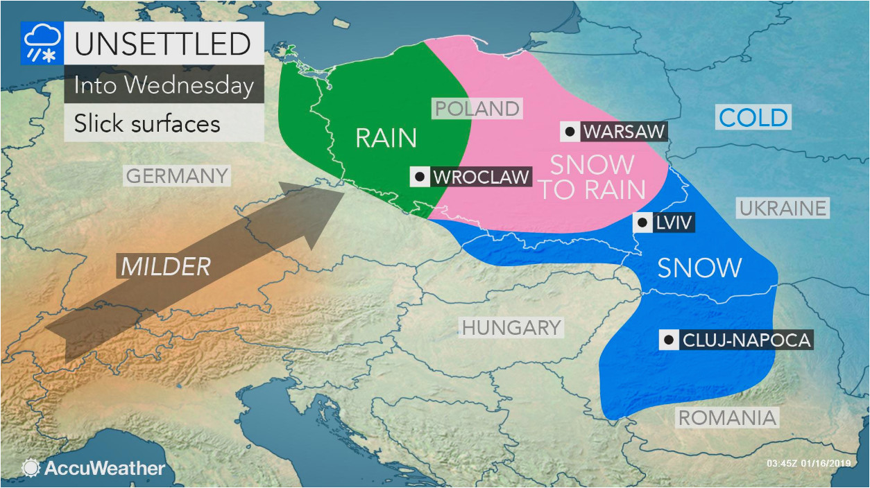 snow creates slick travel from poland to ukraine as alps