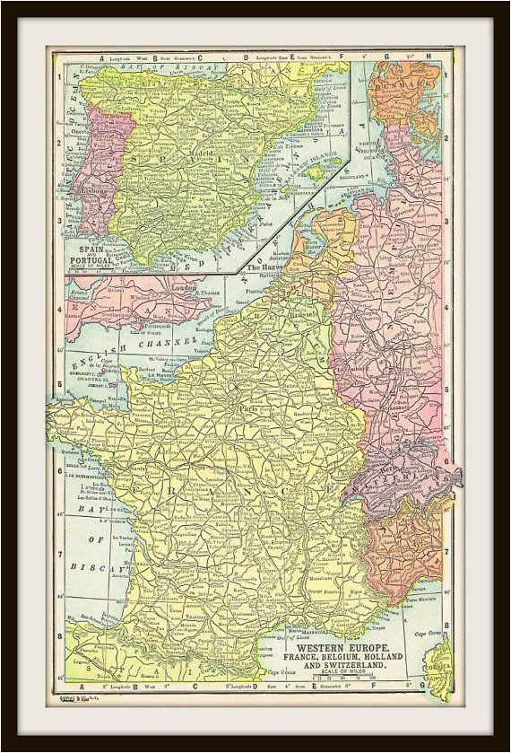 antique map france belgium holland switzerland by