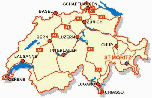 awesome map of switzerland tourist travelquaz map of