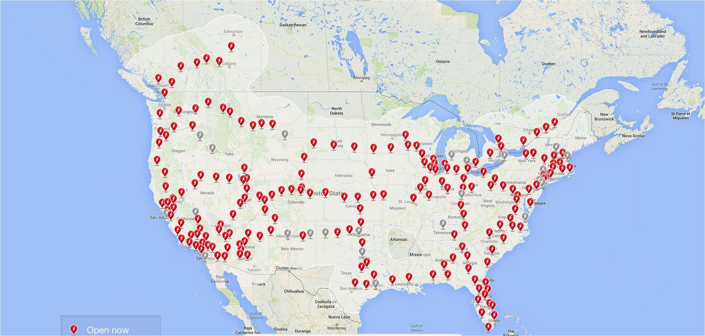 tesla supercharger map california tesla supercharger map