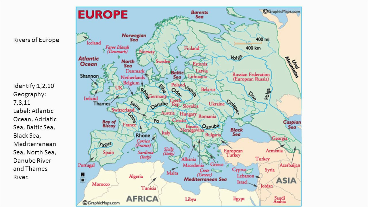 europe geography identify define questions and labeling