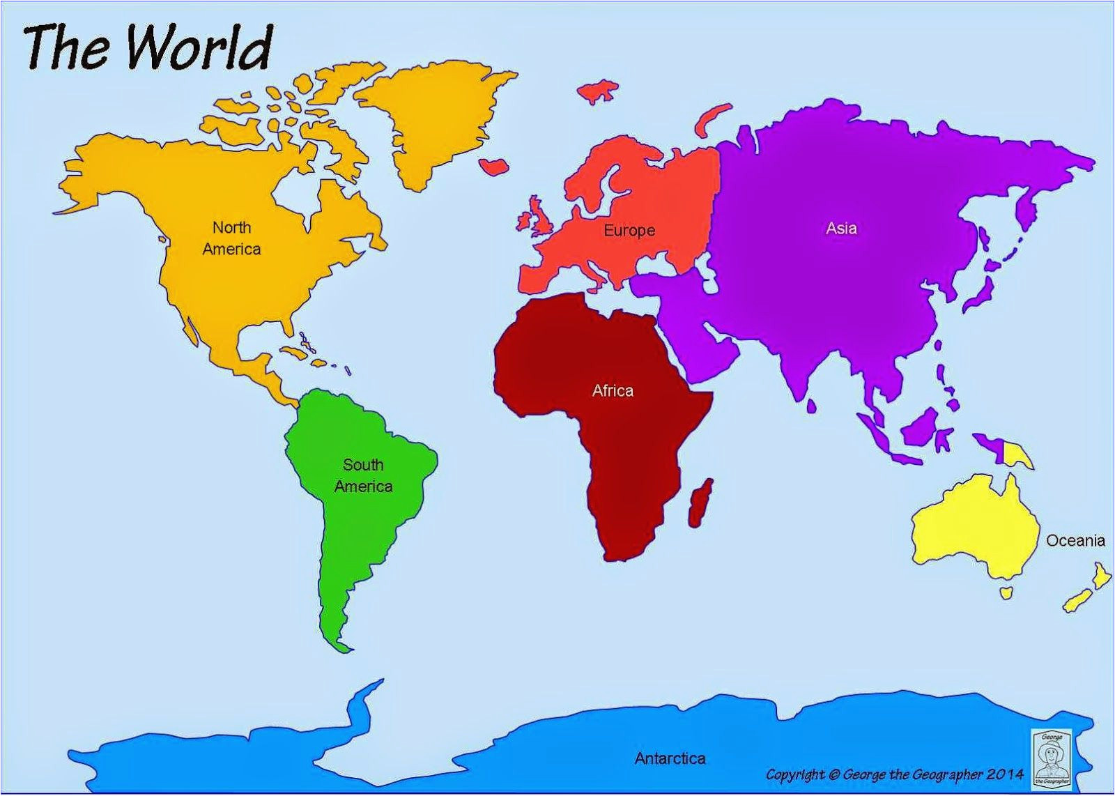 printable world map 7 continents computer lab world map