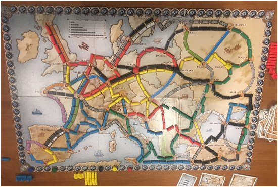 ticket to ride europe picture of spielbound board game