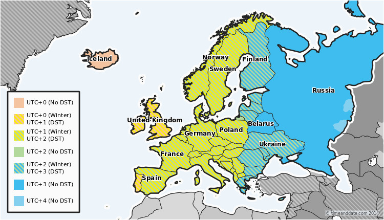 map of germany time zones download them and print