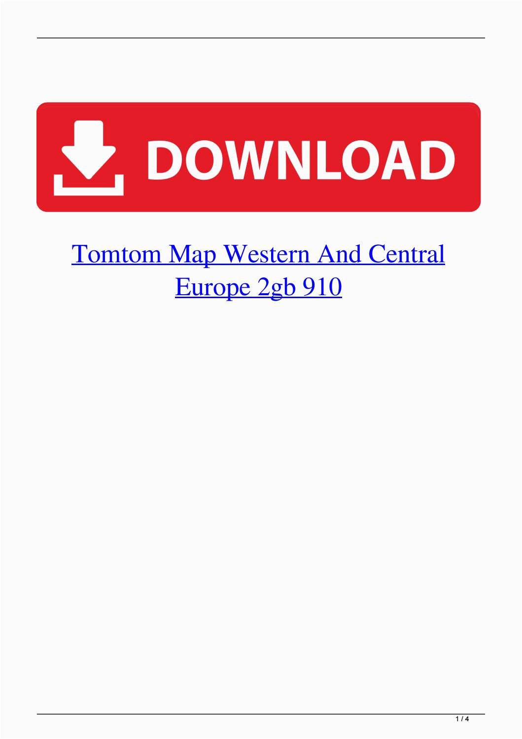 tomtom map western and central europe 2gb 910 by acbenlinkbe