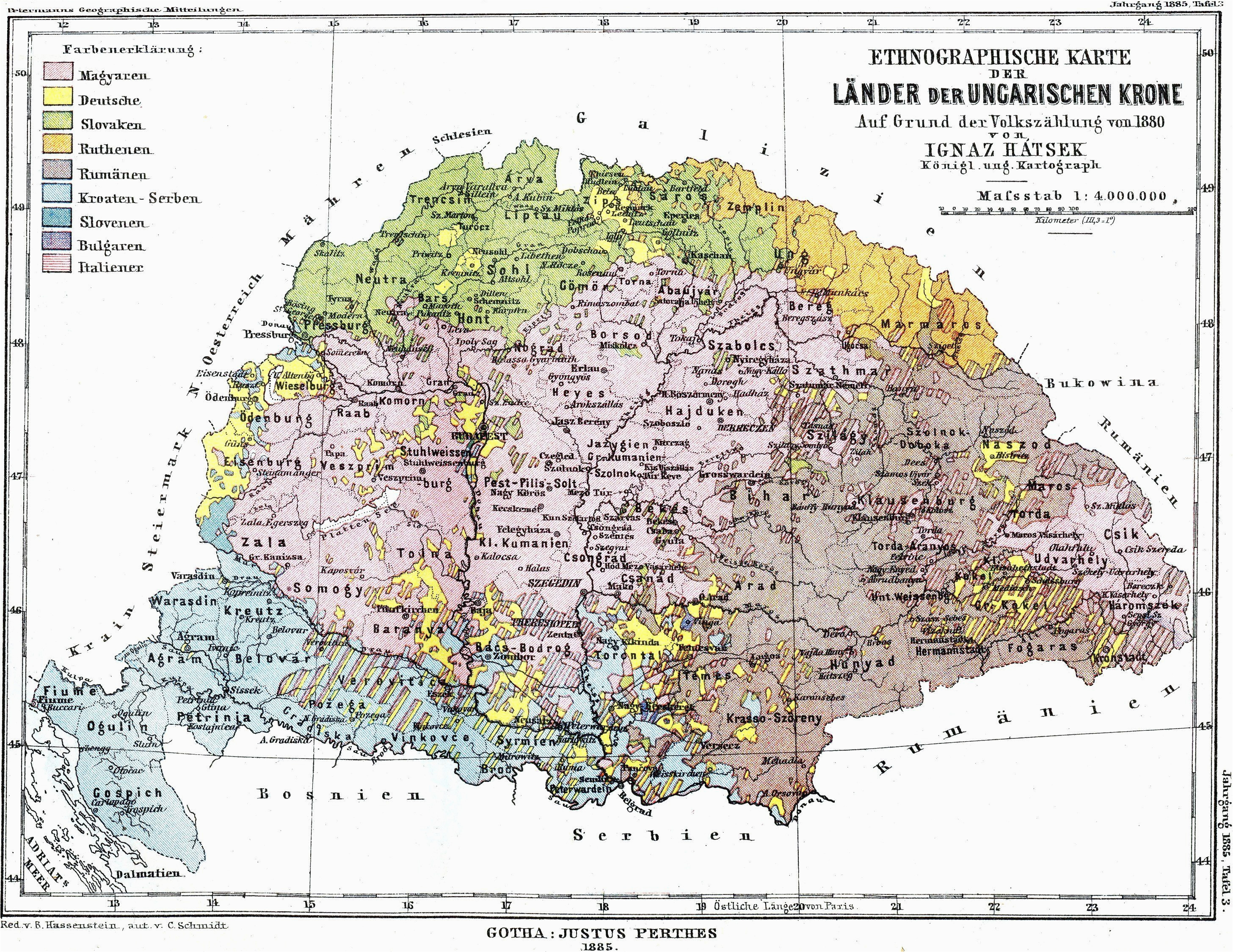 1880 ethnic groups of the hungarian kingdom mapmania