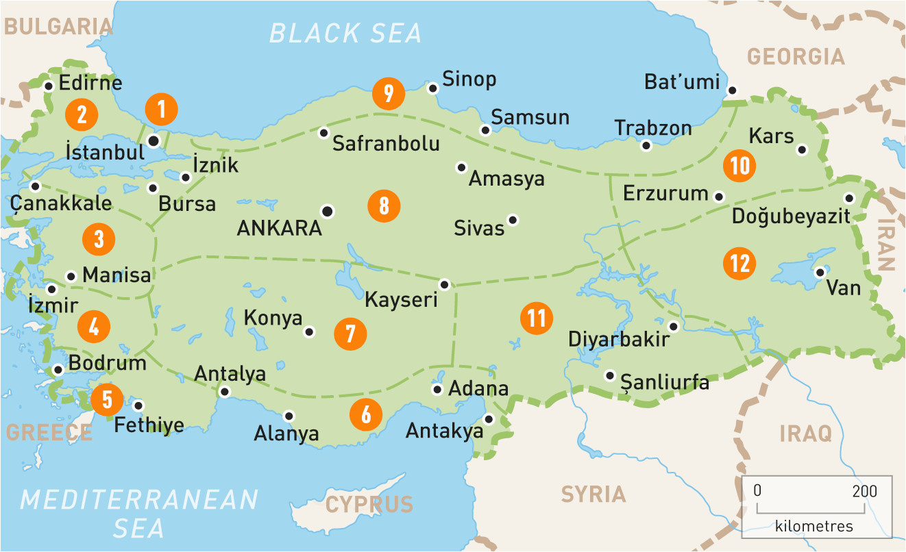 map of turkey turkey regions rough guides rough guides