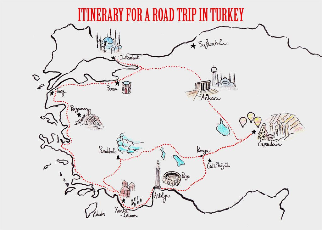 itineraries for a road trip in turkey travel europe road