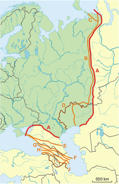 Ural Mountains Map Europe Datei Possible Definitions Of the Boundary Between Europe