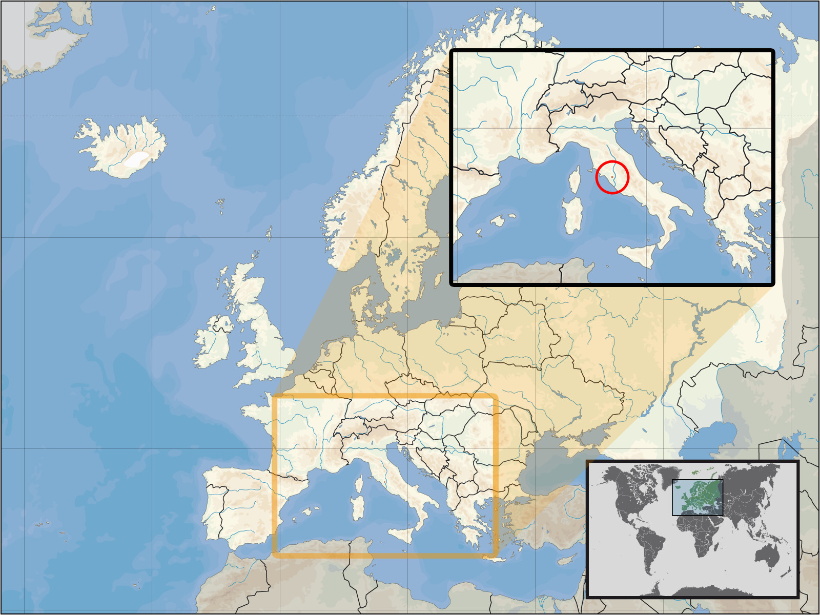 Vatican City On Map Of Europe atlas Of Vatican City Wikimedia Commons