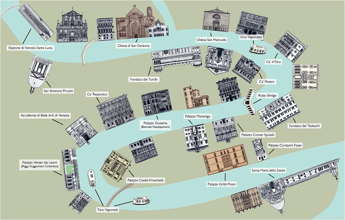 venice grand canal map rabbit guides an alternative look