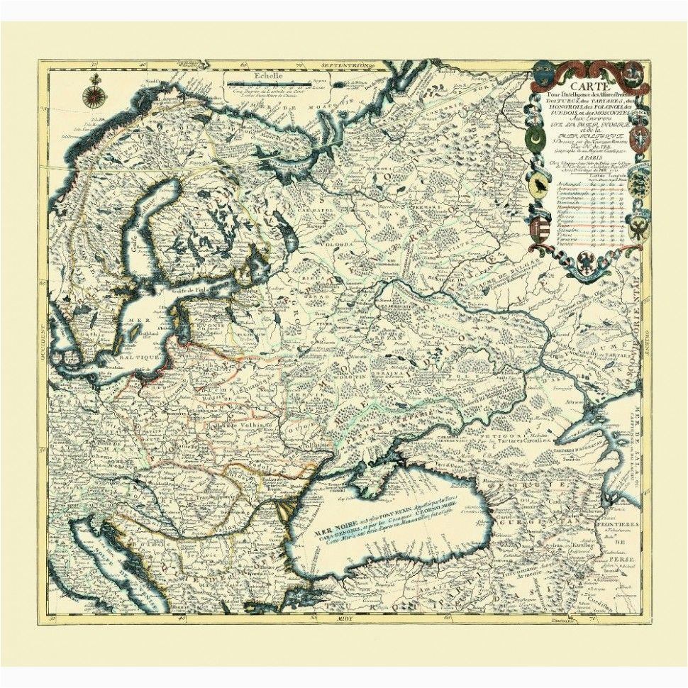 eastern europe old map print maps map antique maps