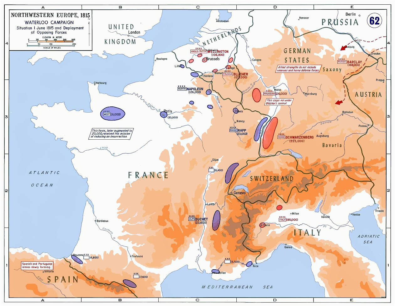 Waterloo Europe Map Minor Campaigns Of 1815 Wikipedia