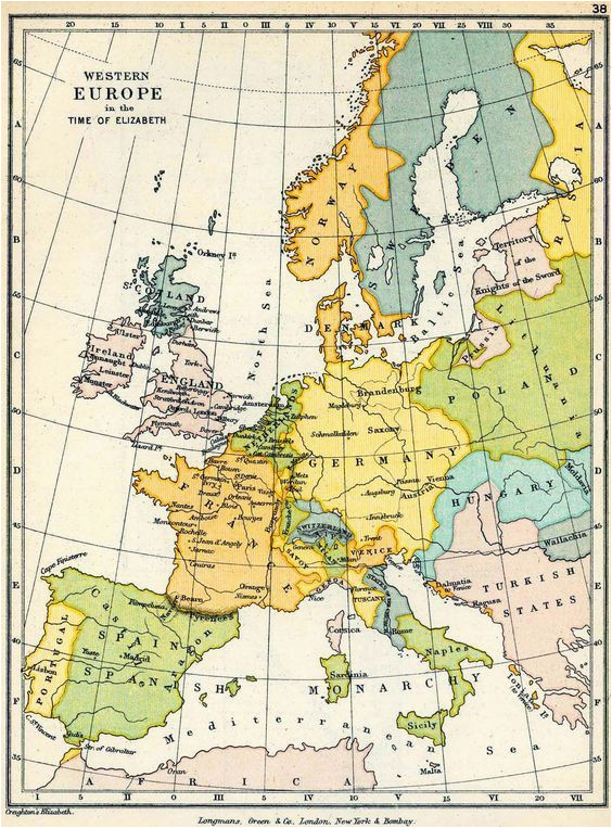 map of western europe in the time of elizabeth