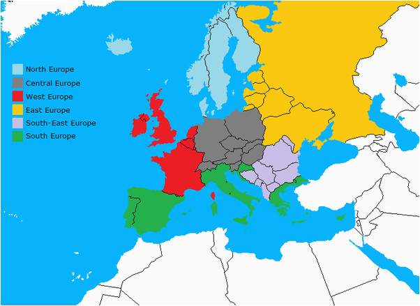 Western and Central Europe Map Does Central Europe Really Exist or are there Western and