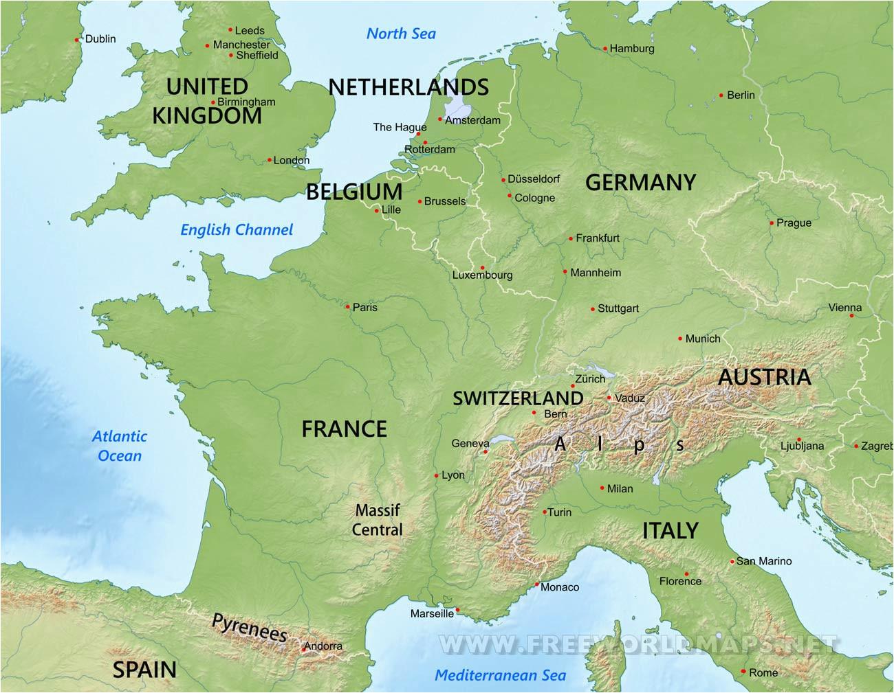 europe blank physical map lgq me