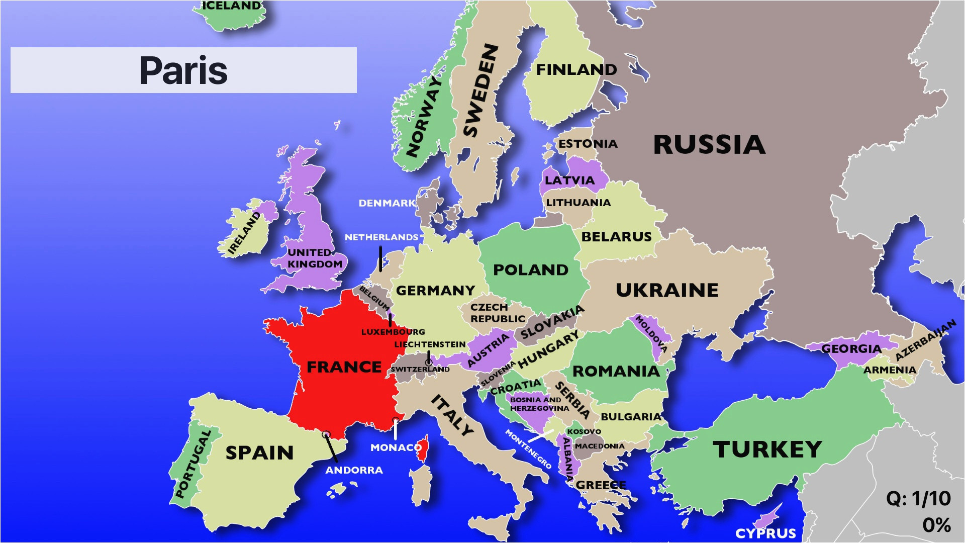 Western Europe Physical Map Quiz 29 Definite Physical Map Test