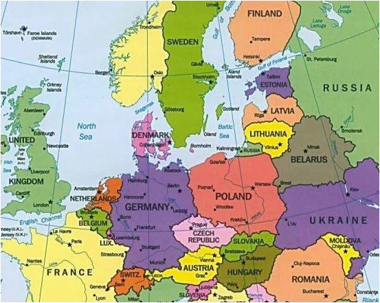 Where is Belgium On the Map Of Europe Map Of Europe Countries January 2013 Map Of Europe