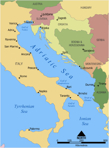 Where is Croatia Located On A Map Of Europe Adriatic Cruise Venice Bari Dubrovnik Montenegro