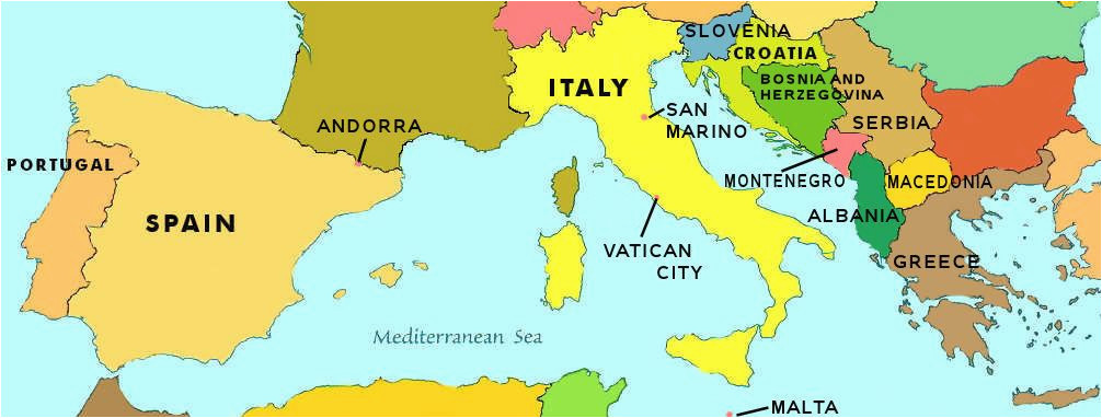 Where is Malta Located On A Map Of Europe southern Europe Map Locating Countries On A Map Me Stuff