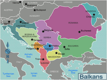balkans regions map romania bulgaria serbia bosnia