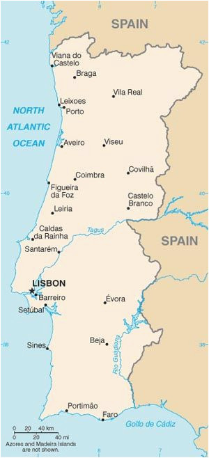 a full map of portugal a european country not part of