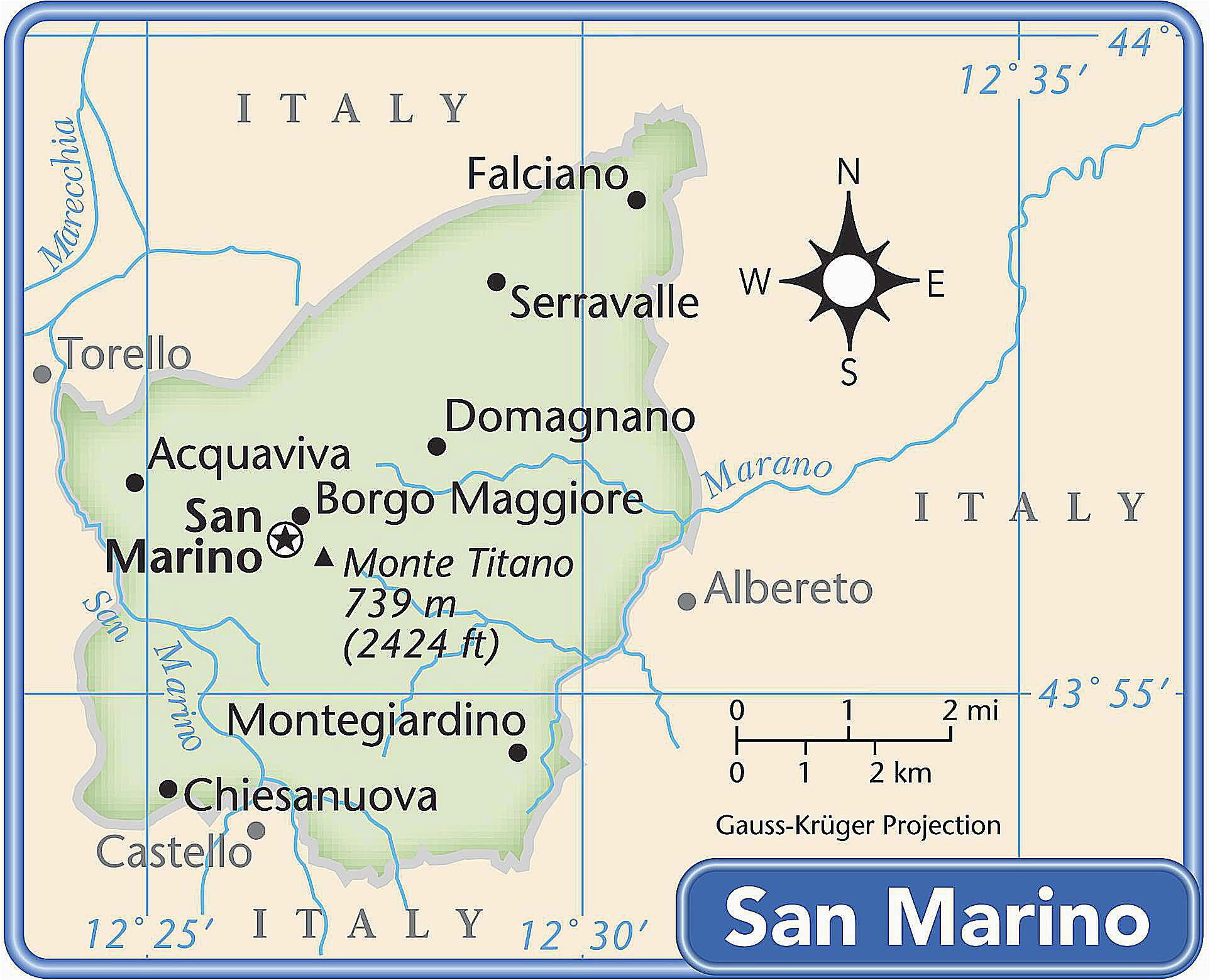 san marino information and geography