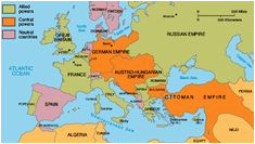 World War 1 Maps Of Europe First World War In Maps