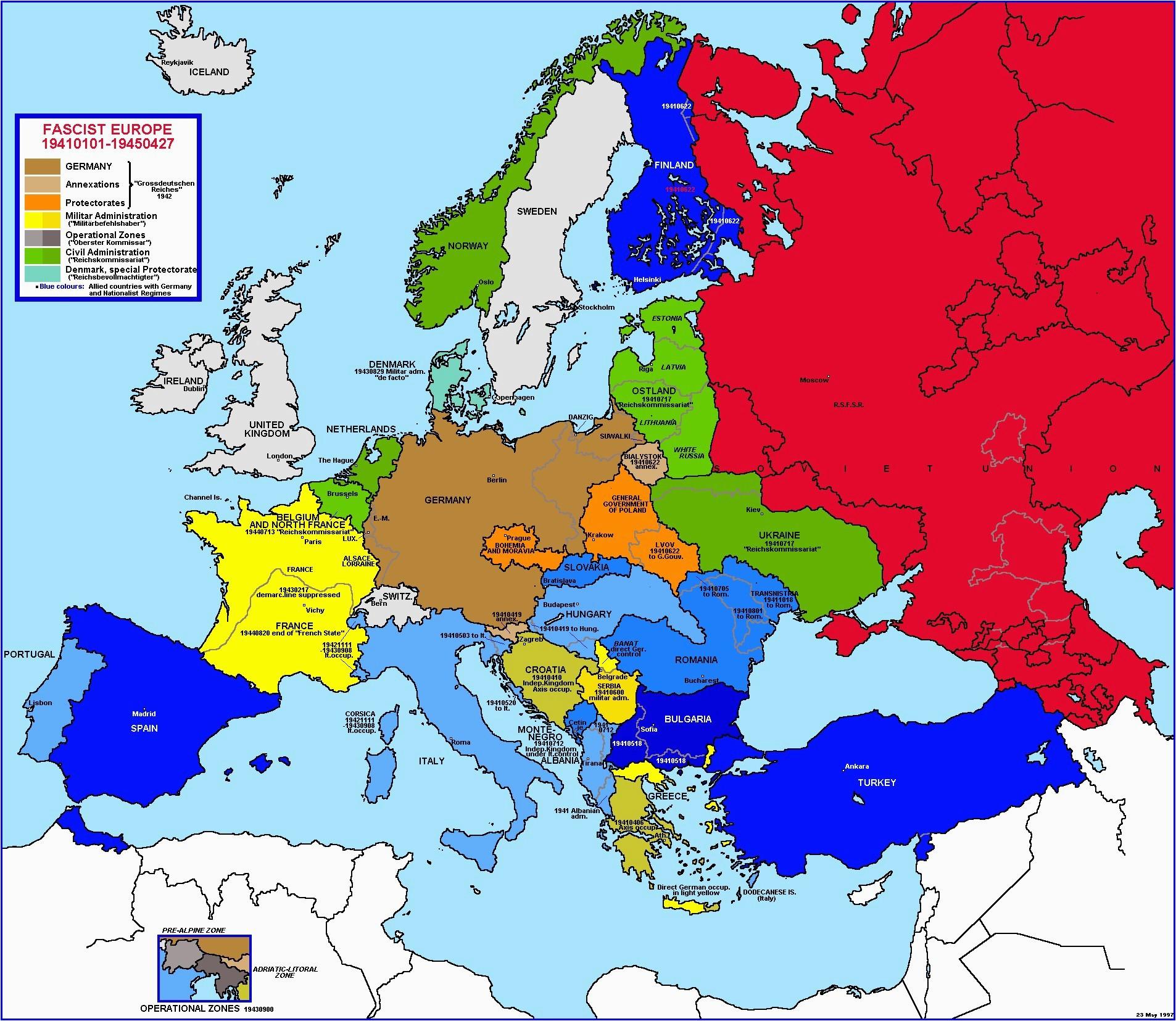 Ww2 Europe Map Quiz Ww2 Blank Map