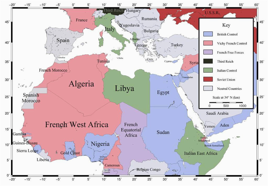 north african campaign map of north africa and southern