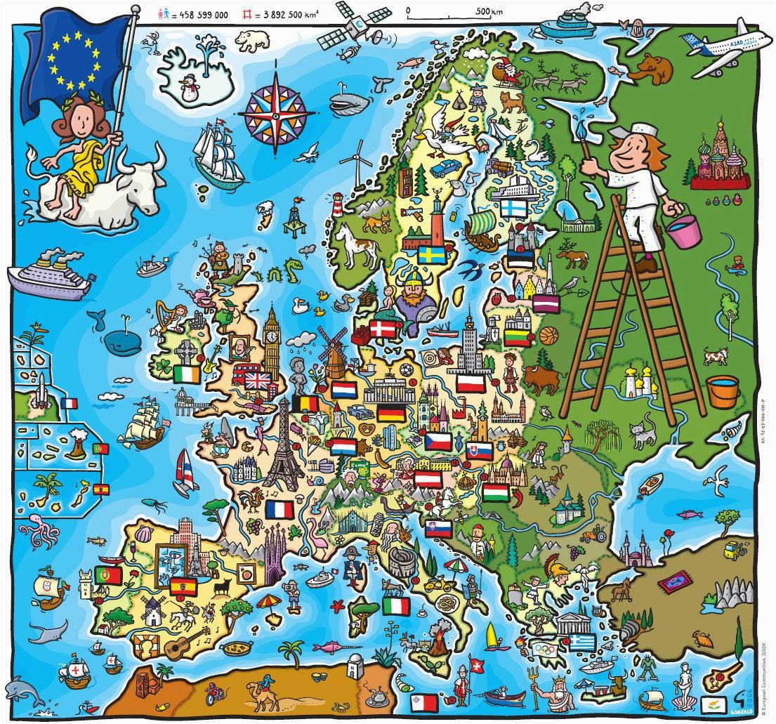 a children s map of the european union before romania and