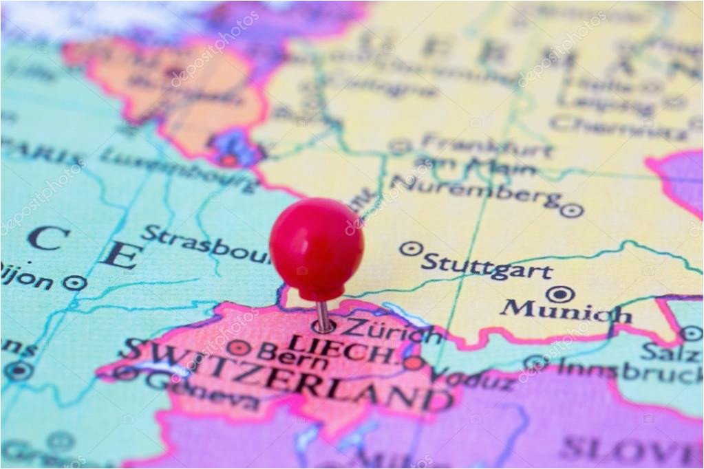 red pushpin on map of switzerland stock photo a c bigandt