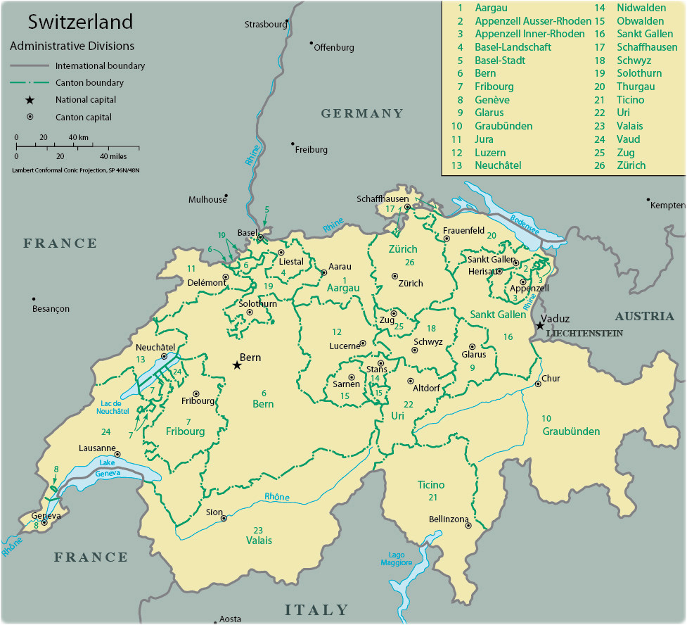 switzerland rivers map and travel information download