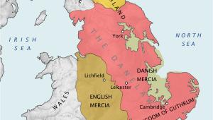 14th Century England Map Danelaw Wikipedia