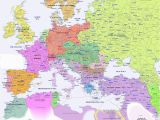 14th Century Map Of Europe Historical Map Of Europe In 1900 Genealogy Map