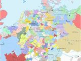 14th Century Middle Ages Europe Map Europe and Surrounding areas In the Year 1444 A D