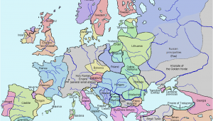 14th Century Middle Ages Europe Map Late Middle Ages Wikipedia