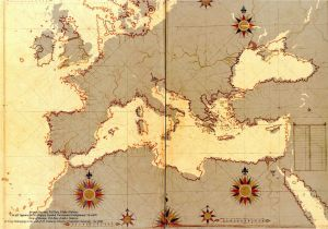 16th Century Europe Map 16th Century Ottoman Map Of Europe On A Modern Map Of Europe