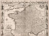 17th Century Europe Map Vintage Map Of France Europe 17th Century Fine Art Reproduction Mp013