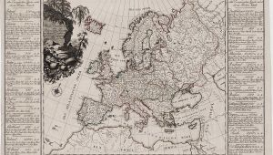 18th Century Europe Map the First attempt at Economic Mapping Rare Antique Maps