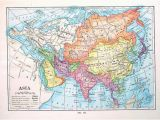 1910 Europe Map asia Map Antique 1910 World atlas Book Plate 9 X 7 Ta