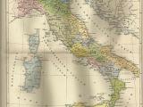 1912 Europe Map 1887 Italien Zur Zeit Kaiser Augustus Alte Landkarte Antique