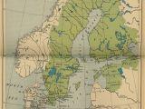 1912 Europe Map Historical Maps Of Scandinavia